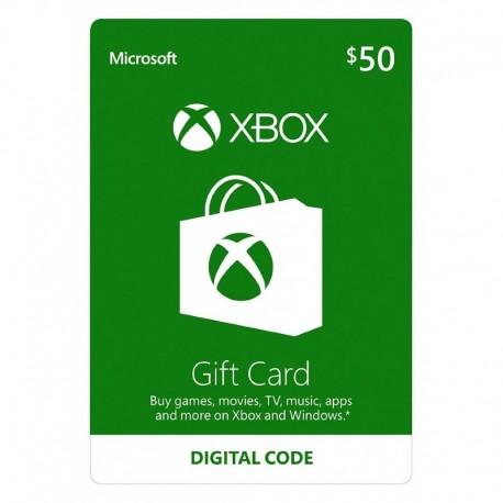 XBOX 50 USD PREPAGO