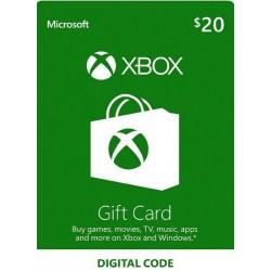 XBOX 20 USD PREPAGO