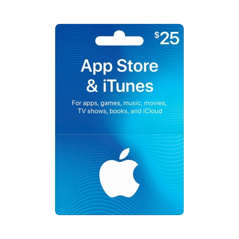 Itunes gift card 25usd