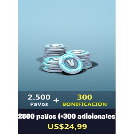 2500 pavos + 300 [FORNITE PC]