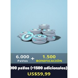 6000 Pavos + 1500 [FORNITE PC]