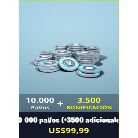10.000 Pavos + 3500 [FORNITE PC]