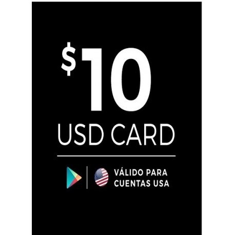 Google Play 10 USD [US Region]
