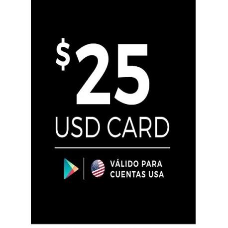 Google Play 25 USD [US Region]