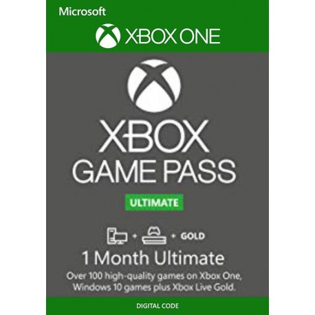 Xbox Ultimate Pass Xbox One 1 mes