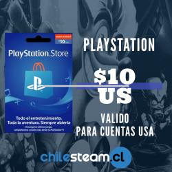 PlayStation Store 10 USD Prepago - PS3/ PS4/ PS Vita