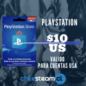 PSN CARD 10 USD - USA