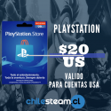 PSN CARD 20 USD - USA
