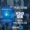 PlayStation Store 50 USD Prepago - PS3/ PS4/ PS Vita