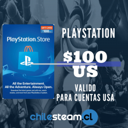 PlayStation Store 100 USD Prepago - PS3/ PS4/ PS Vita
