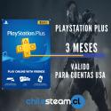 PlayStation Plus 3meses Usa