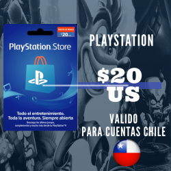 PlayStation Store 20 USD Prepago - PS3/ PS4/ PS Vita