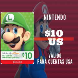 Nintendo eShop 10 USD [US REGION]