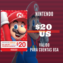 Nintendo eShop 20 USD [US REGION]