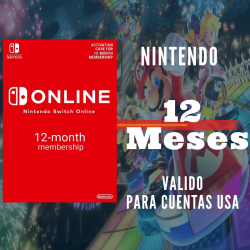 NINTENDO SWITCH ONLINE 12 MESES (USA)